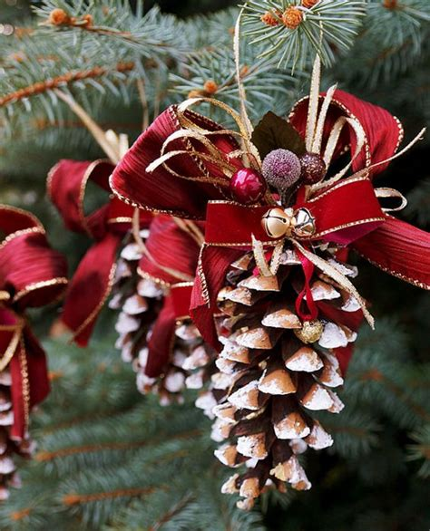pine cone christmas ornament  ornament set  great