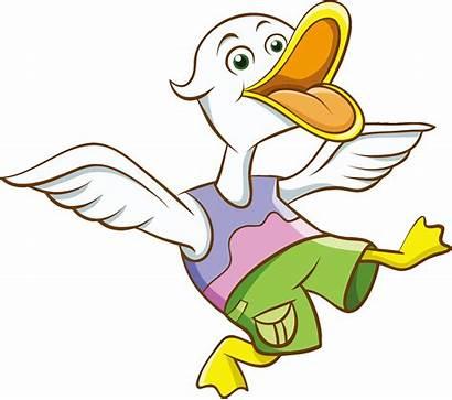 Duck Cartoon Clipart Cliparts Clip Svg Vector