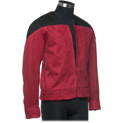 faux suede jacket trek the next generation captain picard 39 s jacket