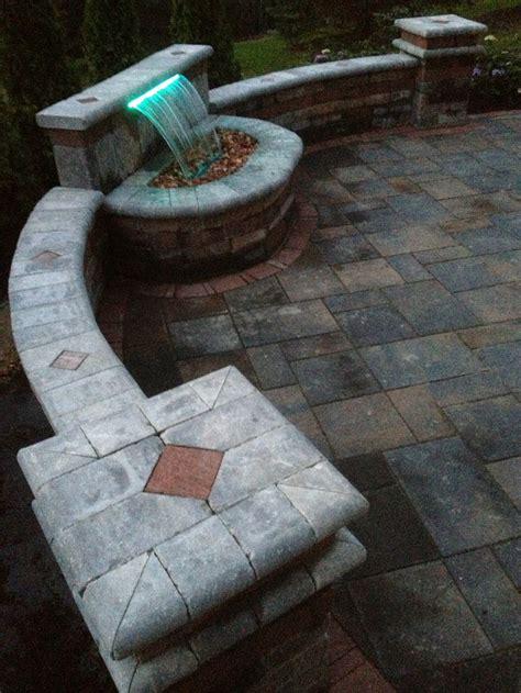 unilock brick paver brussels tumbled wall   color led