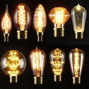 Retro Glühbirne Led : e27 e14s 3 5 40w led edison gl hbirne filament vintage lampe antik retro messing ebay ~ Orissabook.com Haus und Dekorationen