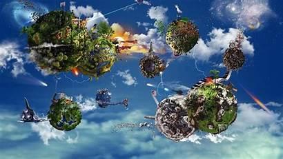 Floating Wallpapers Island Islands Fantasy Artwork