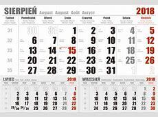 Kalendarium jednodzielne 2018 projekt do druku PDF, EPS