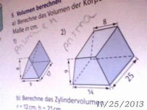 Wasservolumen Berechnen : volumenberechnung von prismen mathelounge ~ Themetempest.com Abrechnung