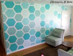 Hexagon Wall Paint Design