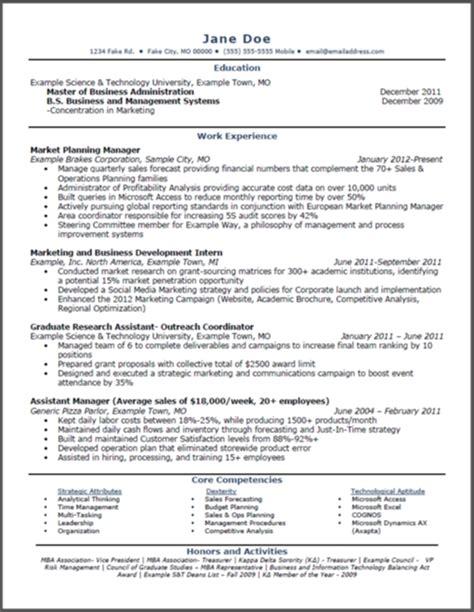 18483 mba marketing resume mba resume sle jennywashere