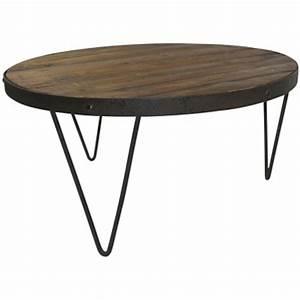 Table Basse Jardin Metal : table basse bois clair et metal ~ Teatrodelosmanantiales.com Idées de Décoration