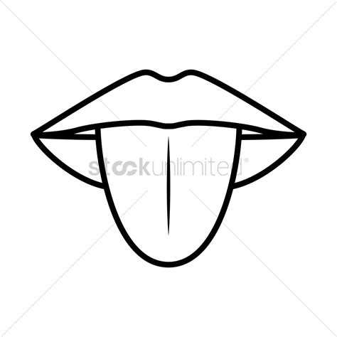 Tongue Clipart Tongue Vector Image 1523446 Stockunlimited