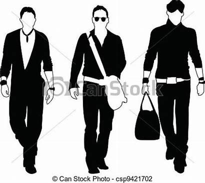 Clipart Clip Models Mens Silhouette Illustration Summer