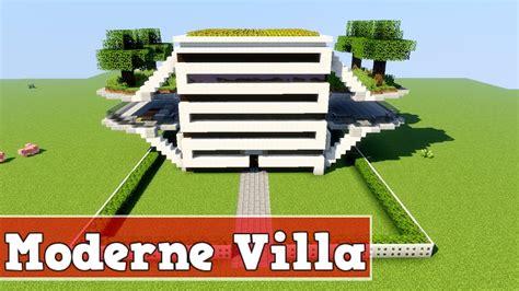 Wie Baut Moderne Häuser In Minecraft by Wie Baut Eine Moderne Villa In Minecraft Minecraft
