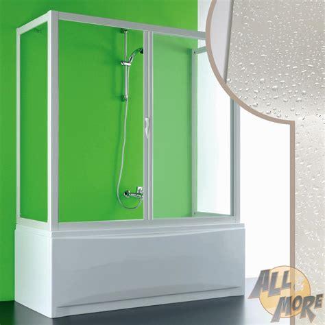 pare baignoire acrylique cabine de pare baignoire 90x160x90cm 3 parois pvc