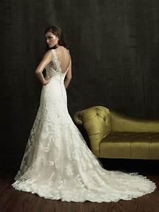 f s new unworn unaltered allure bridal 8634 light gold With light gold wedding dress