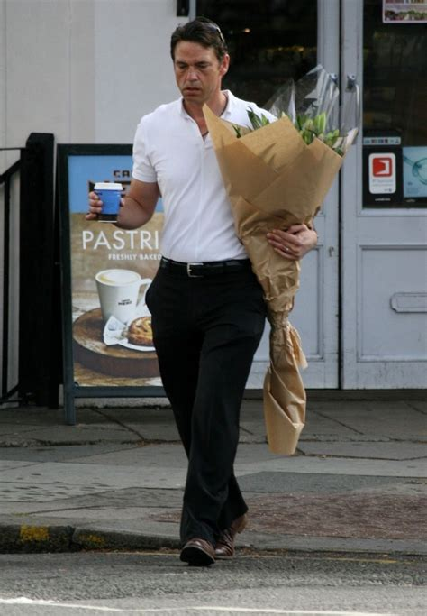 dougray scott   dougray scott buys flowers