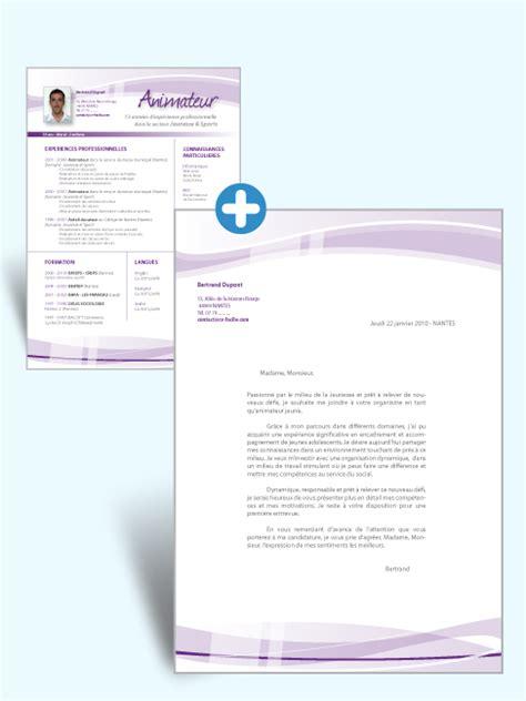 lettre de motivation lettres modernes mod 232 le cv animateur lettre de motivation