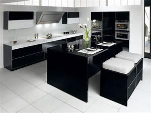 Cuisine Moderne Pas Cher : cuisine equipee noir laque pas cher cuisine originale et design cbel cuisines ~ Melissatoandfro.com Idées de Décoration
