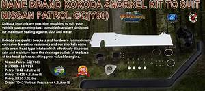 name brand kokoda snorkel kit to suit nissan patrol gq y60 With best brand of paint for kitchen cabinets with pro scooter helmet stickers
