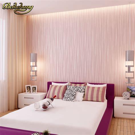 beibehang modern plain pink wallpaper stripe classic pink