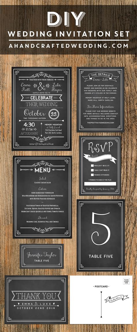 chalkboard diy wedding invitation share today s craft and diy ideas wedding invitations
