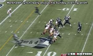 Marshawn Lynch leisurely scores a touchdown - SBNation.com