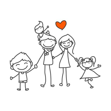 cartoon family drawing  getdrawingscom