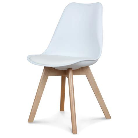 chaise blanche scandinave 233 quipement de maison