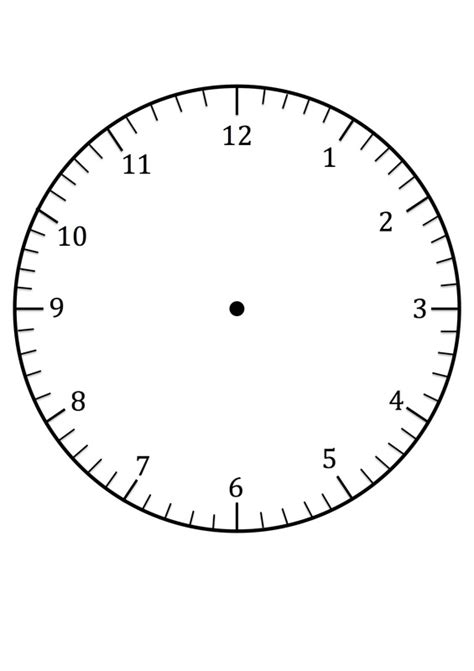 Clock Template Clock Faces For Use In Learning To Tell The Time