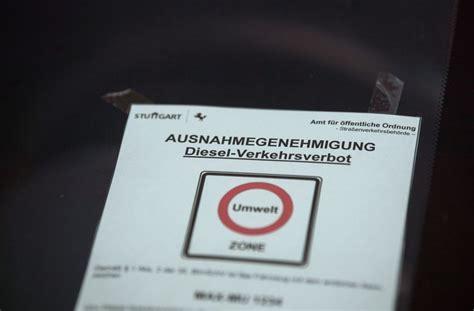ausnahmegenehmigung diesel stuttgart diesel fahrverbot in stuttgart zahl der ausnahmeantr 228 ge