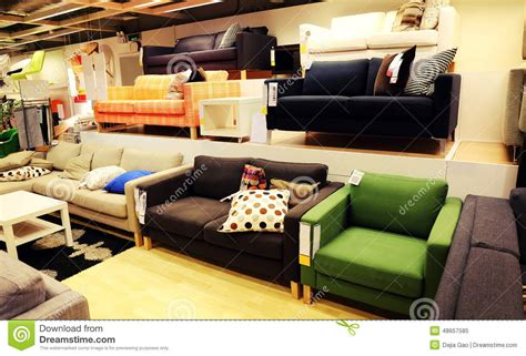Sofa Shopping by Modern Furniture Store Retail Shop Stock Photo Image