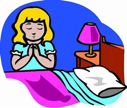 Prayer Clipart Clip Night Praying Bedtime Bed