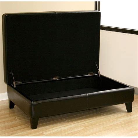 black leather ottoman coffee table hilary leather black coffee table ottoman dcg stores