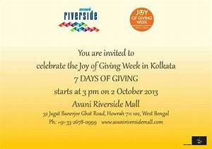 Celebrate Joy of Giving Week from 2 to 8 October 2013 at ...