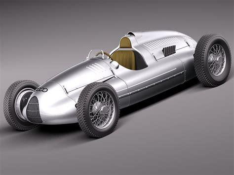 Auto Union Type D 1938 3d Model .max .obj .3ds .fbx .c4d