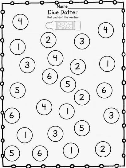 Math Kindergarten Preschool Activities Dice Dauber Dotter