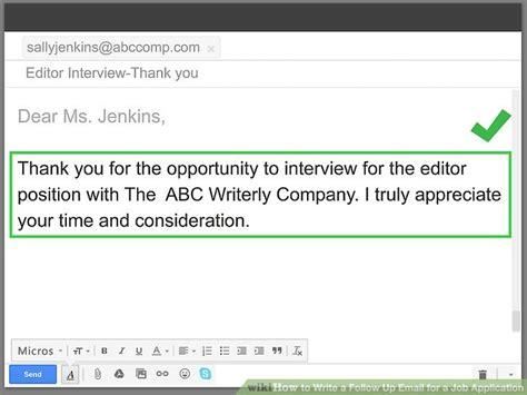 ways  write  follow  email   job application