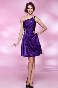 Robe Pour Temoin De Mariage : robe de soir e violette courte pas cher ~ Melissatoandfro.com Idées de Décoration