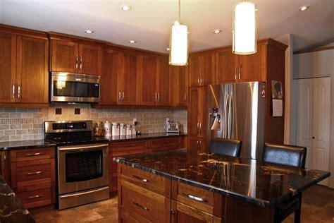 Kitchen Granite Pictures Granite Backsplash by Kitchen Cabinets With Black Granite Countertops