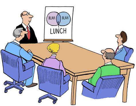 12667 business lunch meeting clipart status reports why your tunes you out