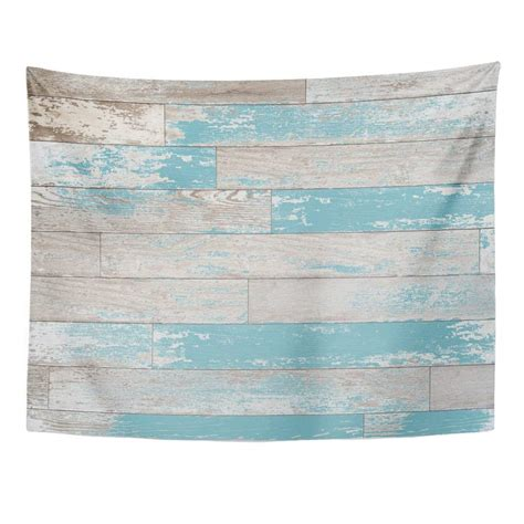 Wood wall art available for delivery today. ZEALGNED Brown Turquoise and Teal Wood Boards on Wall Vintage Colored Stain Paint Old World Feel ...
