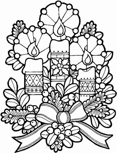 Candles Christmas Coloring Pages Printable Candle Colouring