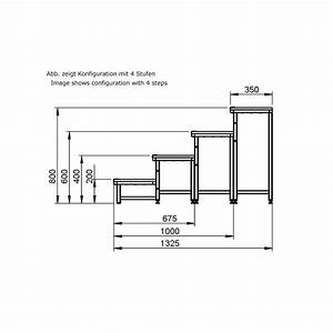 Treppe 3 Stufen Aussen : alustage modulare b hnen treppe 4 stufen 20 40 60 80 cm ~ Frokenaadalensverden.com Haus und Dekorationen