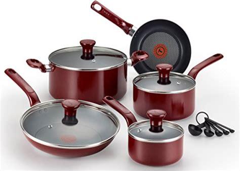 farberware  aluminum nonstick skillet set medium red tookcook