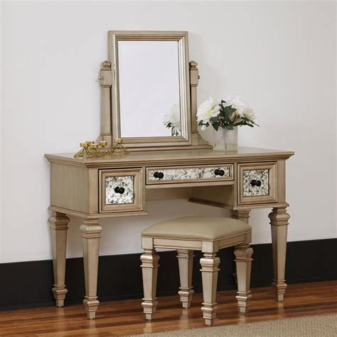 gold vanity table set home styles visions 2 piece silver gold chagne vanity