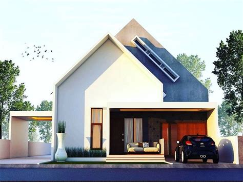 desain rumah minimalis terbaru  lantai  unik tampak