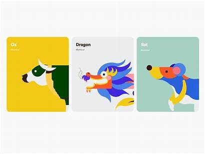 Ox Rat Dragon Animated Mouse Dribbble Card