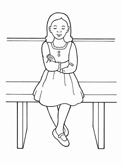 Primary Lds Bench Sacrament Young Nursery Coloring