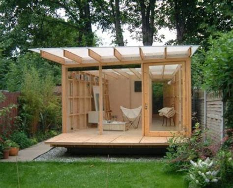 contemporary garden shed plan  interior design