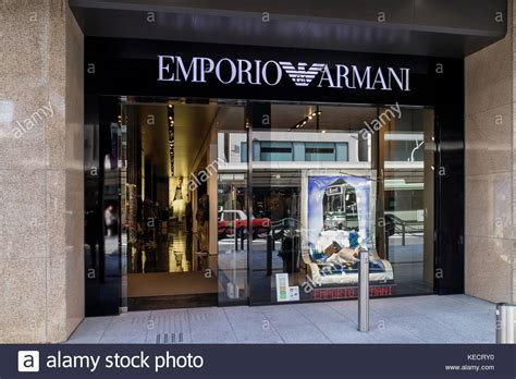 armani shop front stock  armani shop front stock