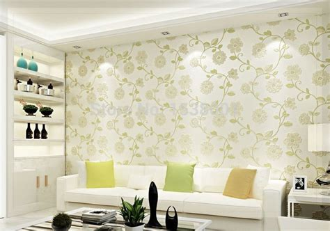 european simple wallpaper green leaf design  woven
