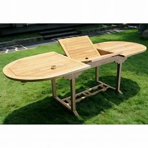 Table Jardin Teck : table de jardin en teck massif naturel 10 places ~ Teatrodelosmanantiales.com Idées de Décoration