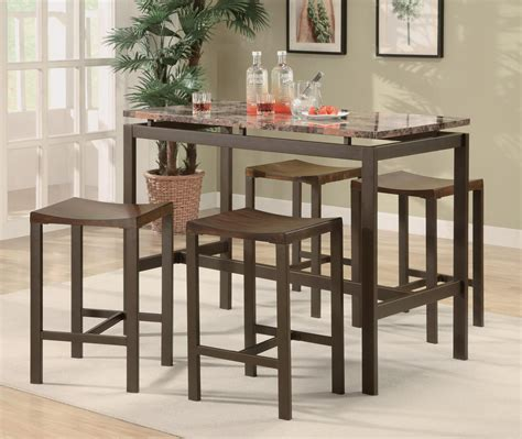 small bar height table benchwright bar height table rustic mahogany dining room